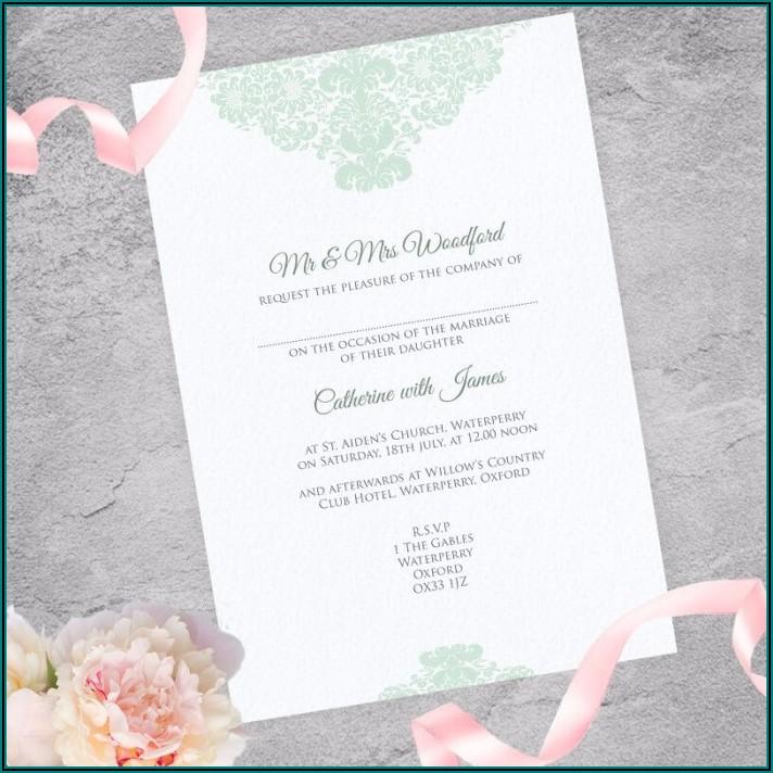 Simple Elegant Wedding Invitations Uk