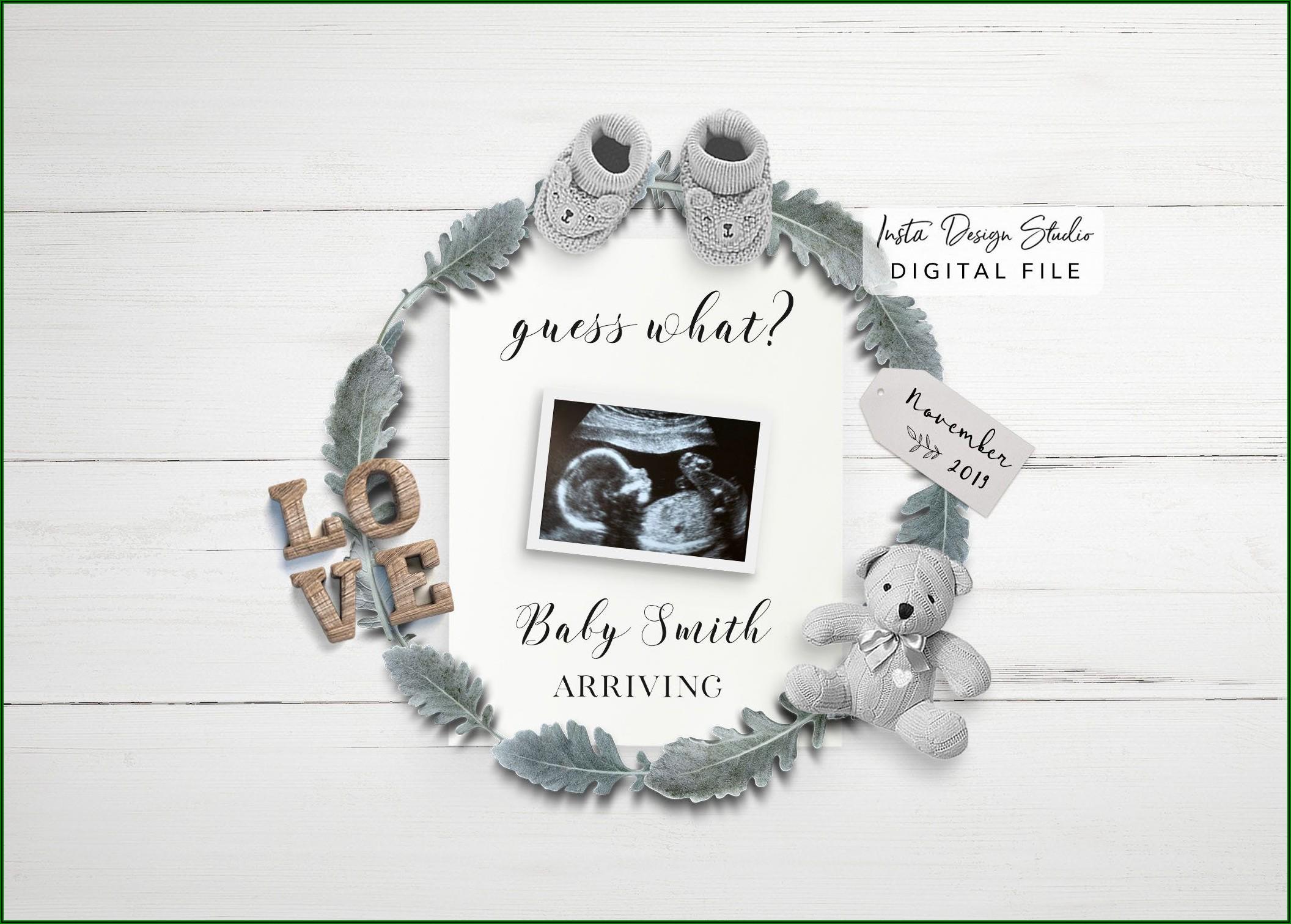 Social Media Pregnancy Announcement Template Free