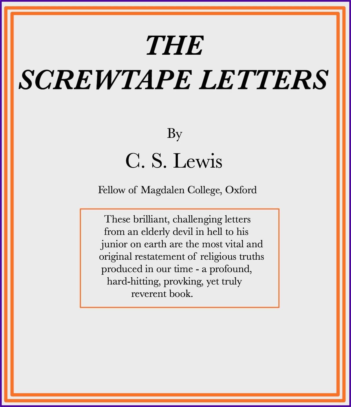 The Screwtape Letters Google Books