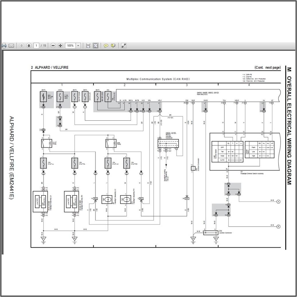 Toyota Electrical Wiring Diagram Pdf