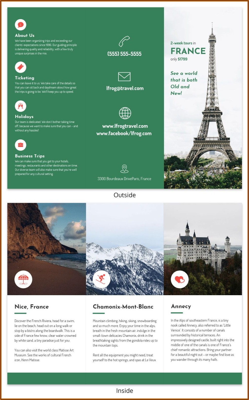 Travel Brochure Format For Students