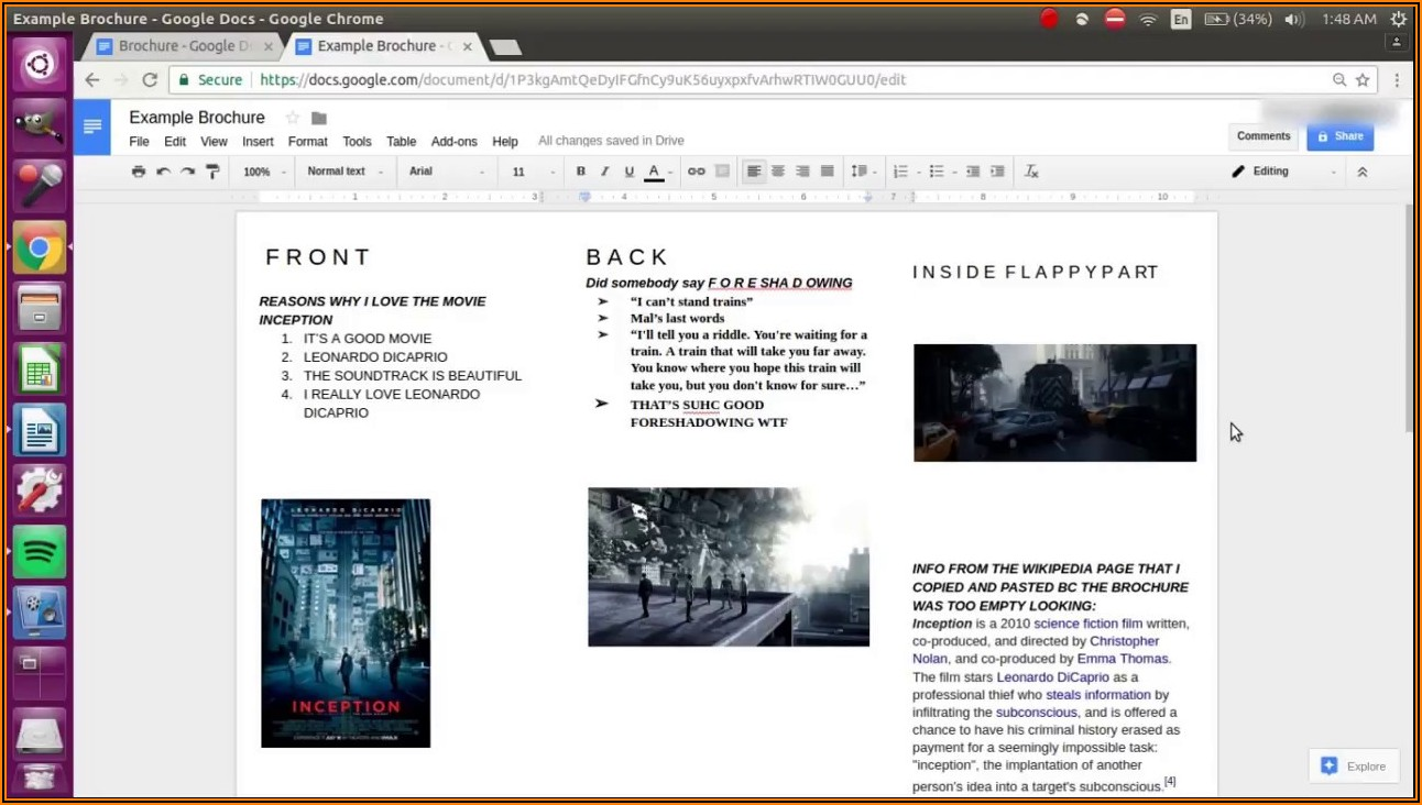 Travel Brochure Template For Students Google Docs