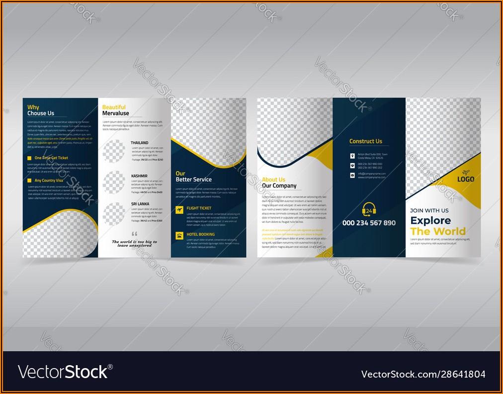 Travel Brochure Template Free Vector