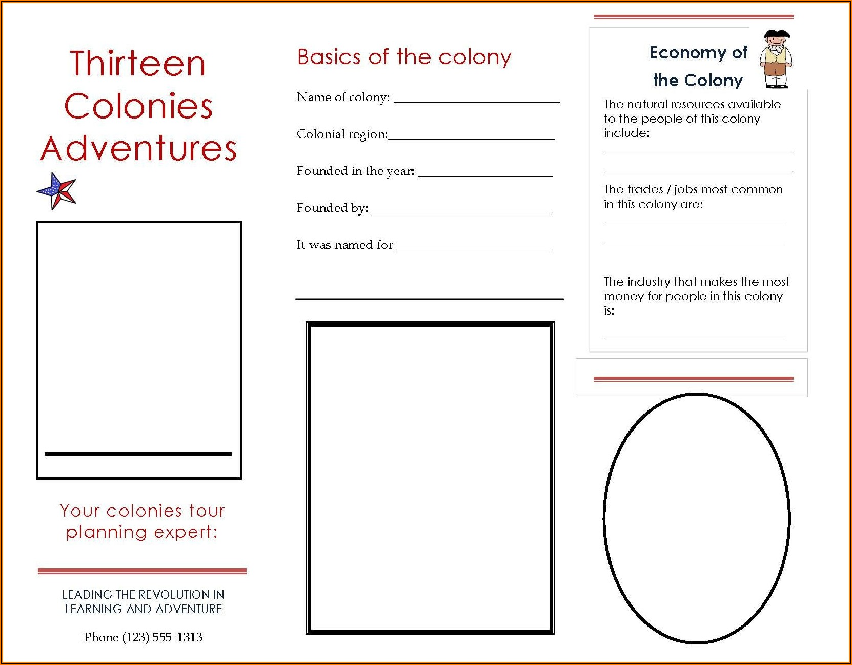 Travel Brochure Template Printable