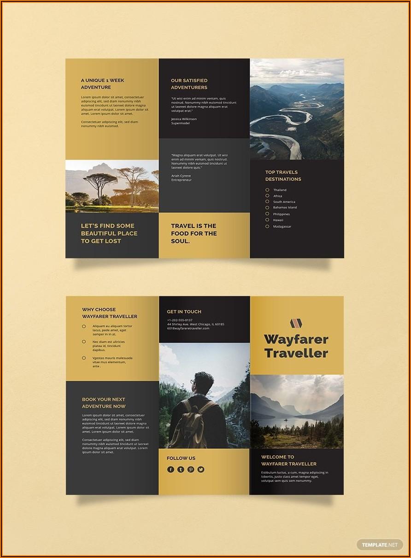 Travel Brochure Template Word Free