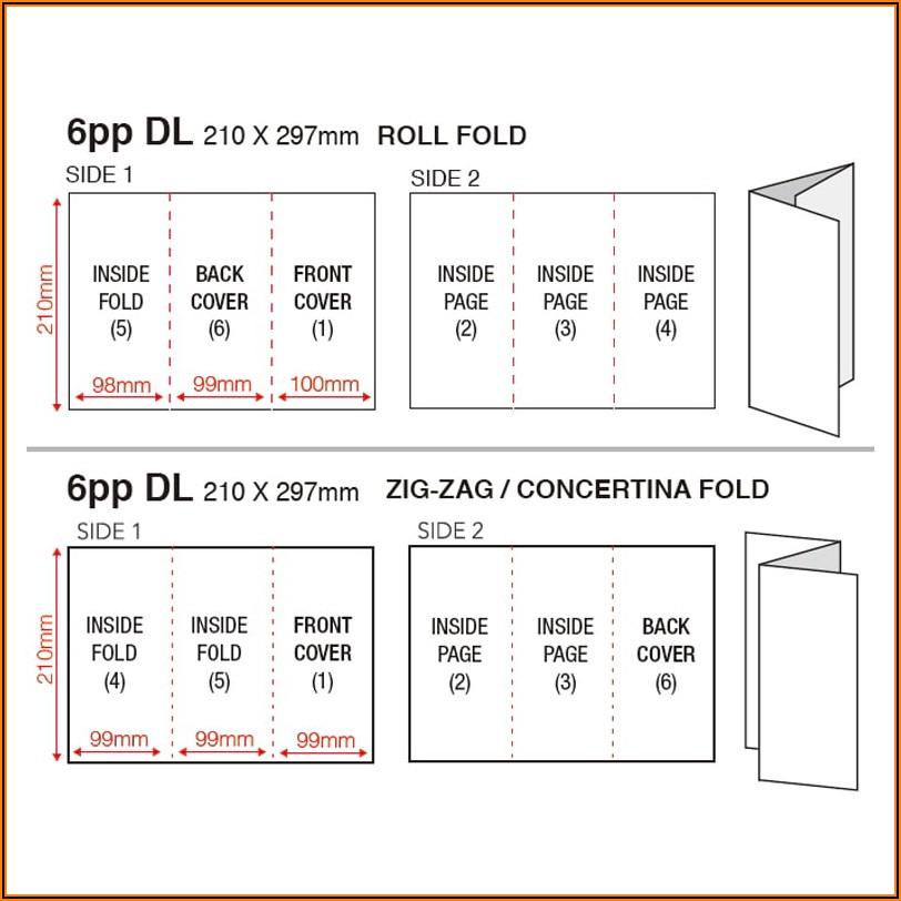 Tri Fold Brochure Dimensions A4