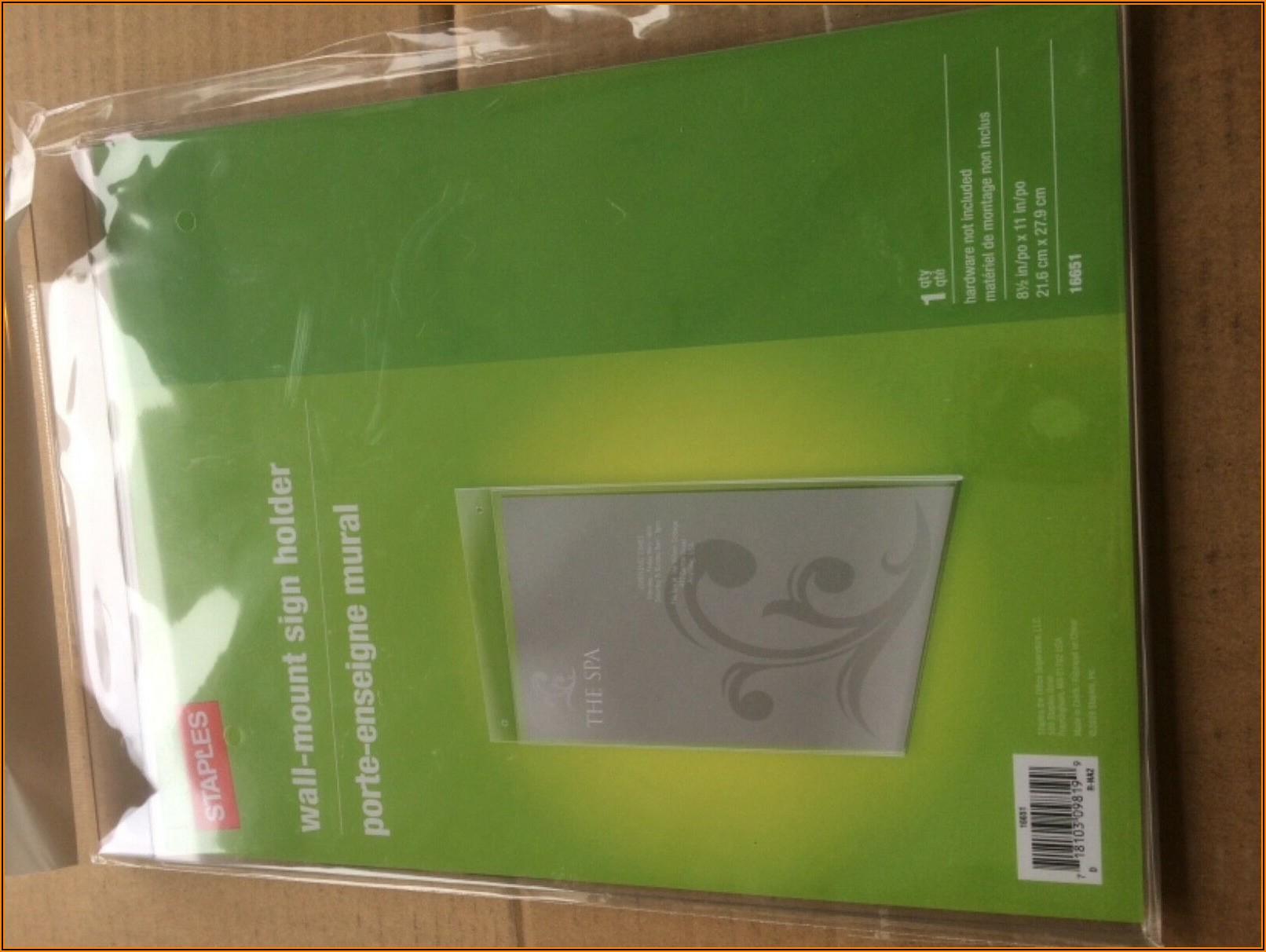 Tri Fold Brochure Holder Staples