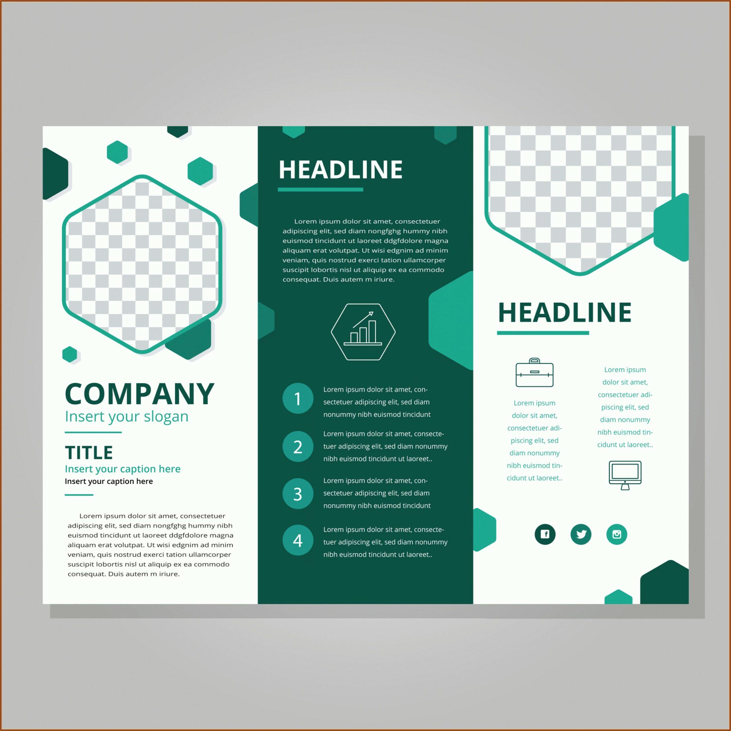 Tri Fold Brochure Indesign Template Free