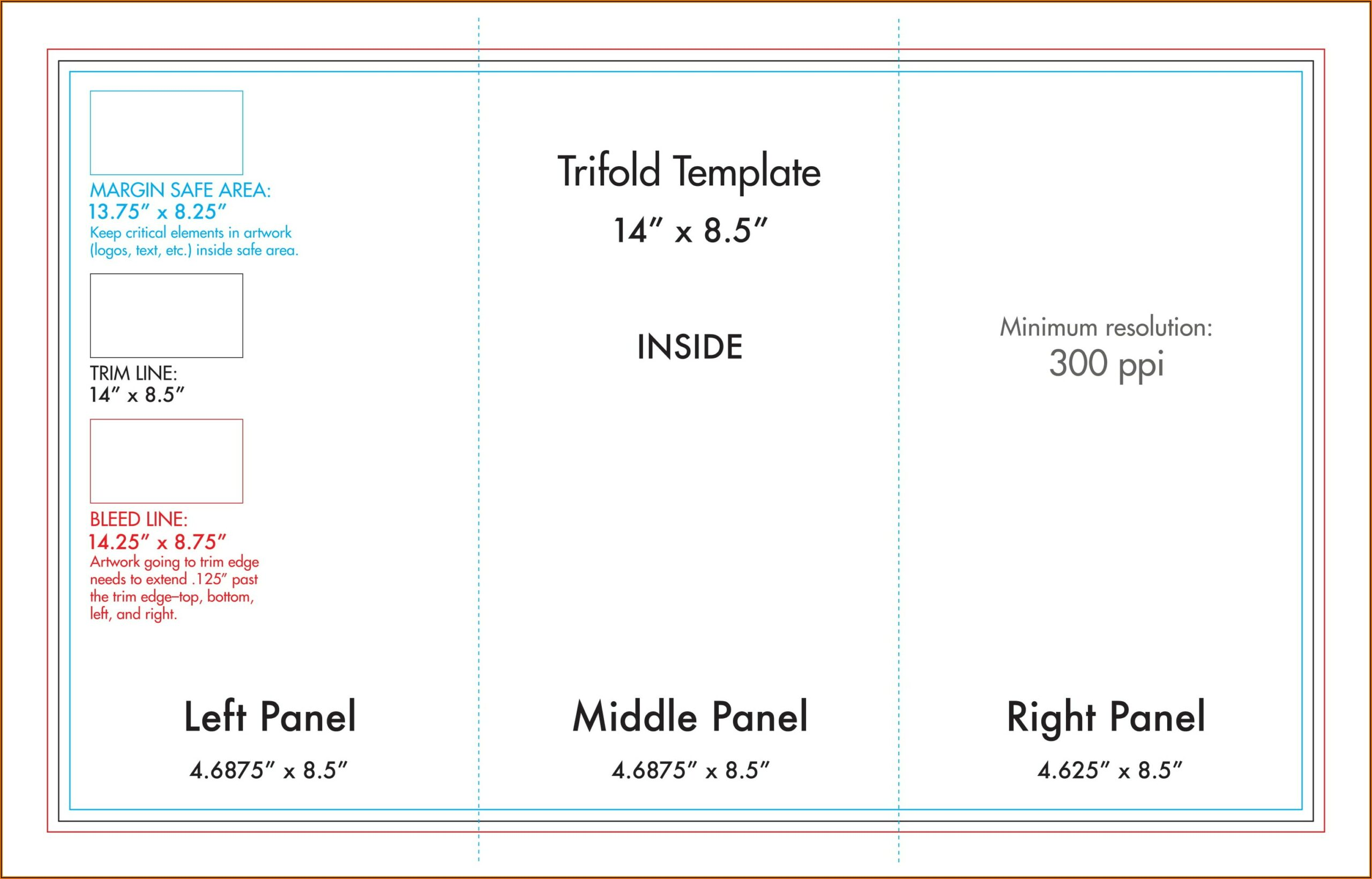 Tri Fold Brochure Specs Indesign