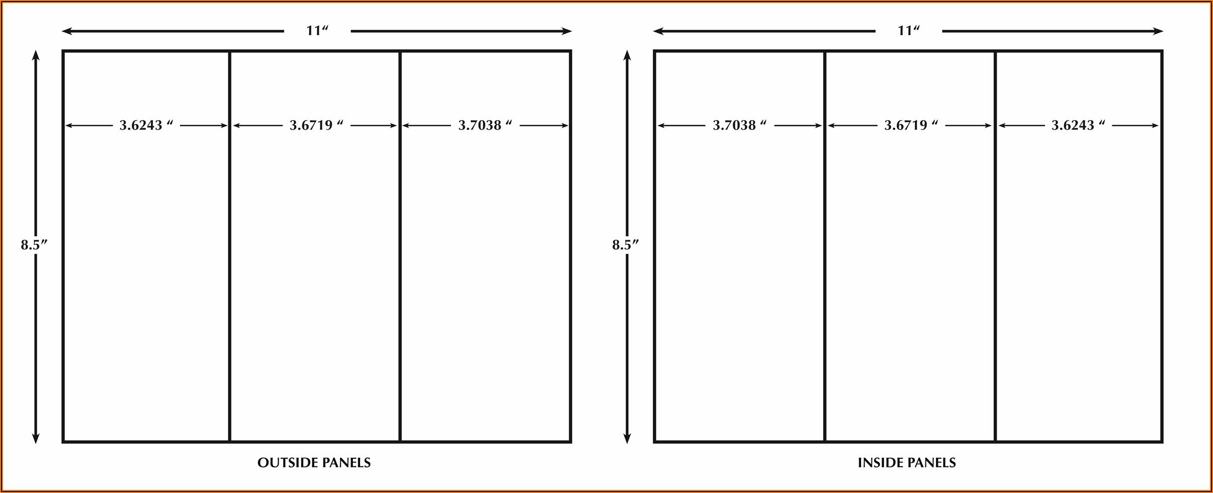 Tri Fold Brochure Template Indesign Free