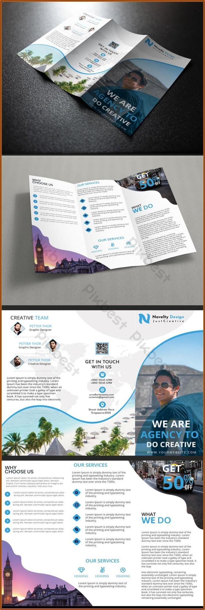 Tri Fold Travel Brochure Template Free Download
