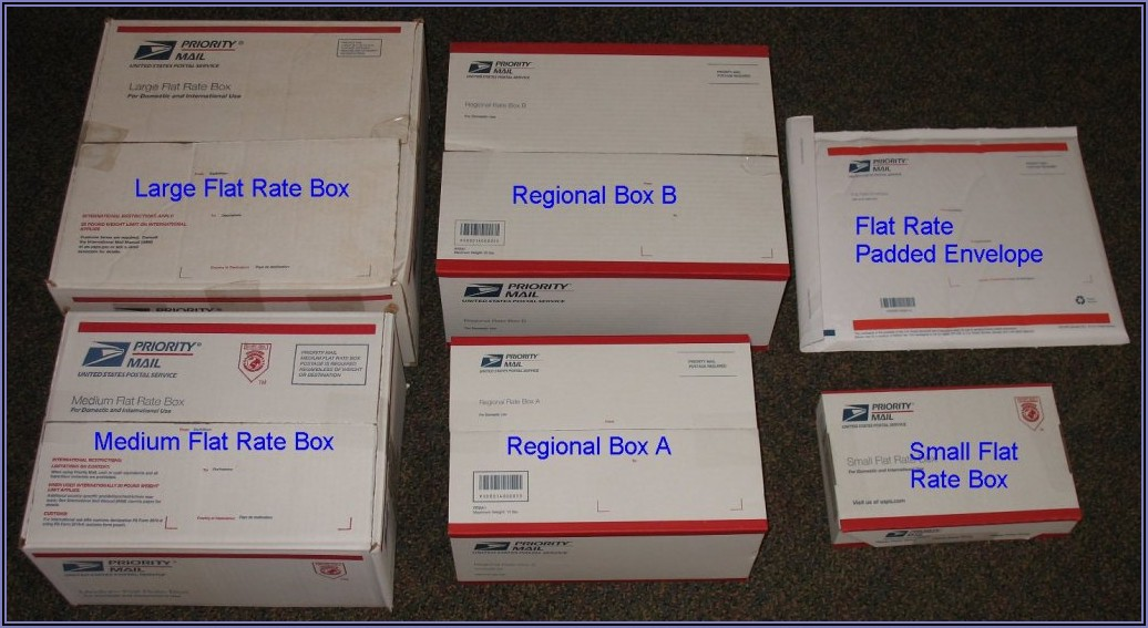 Usps Mailing Boxes Sizes And Rates