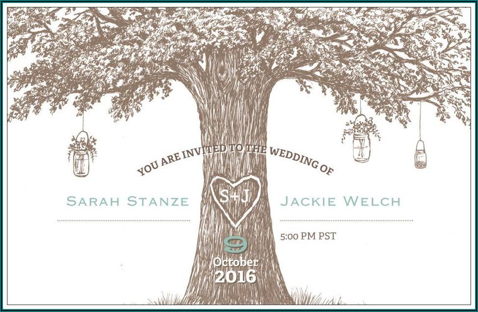 Vistaprint Rustic Wedding Invitations
