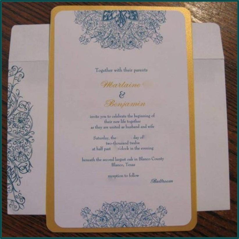 Vistaprint Wedding Invitations Samples