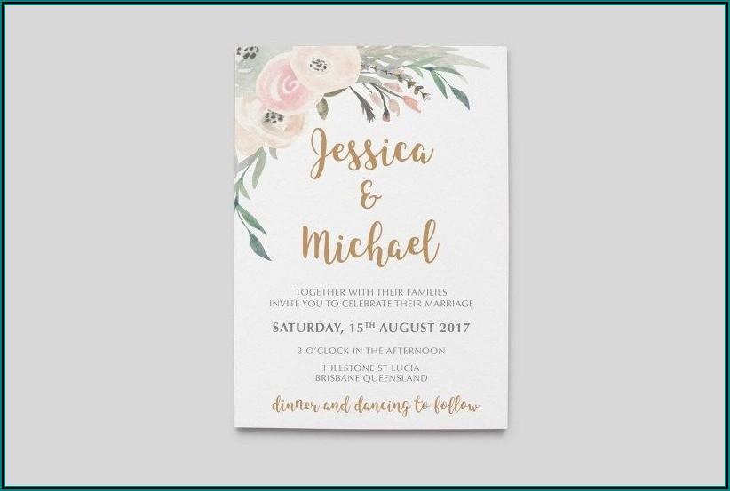 Vistaprint Wedding Invitations With Rsvp