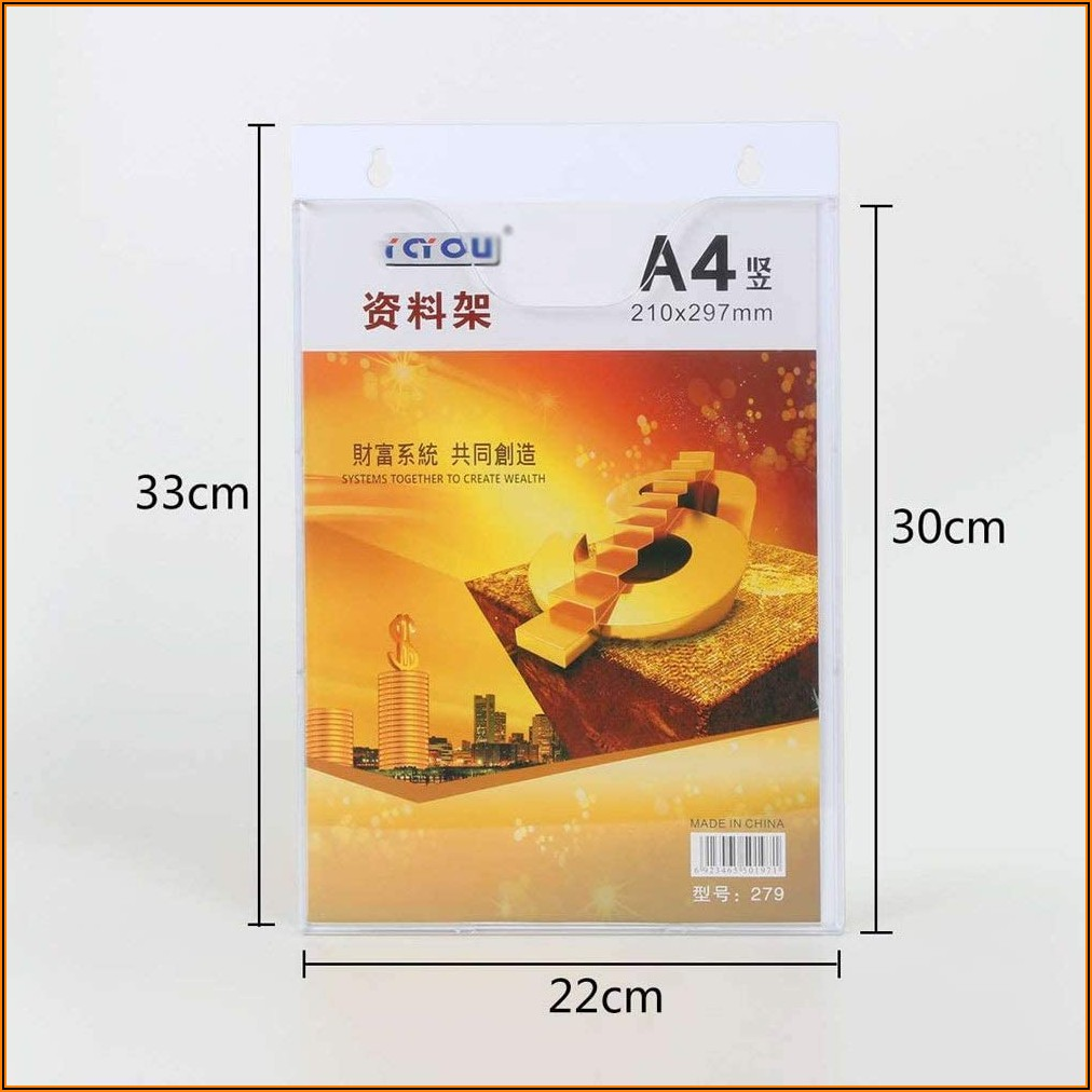 Wall Mounted Brochure Stand