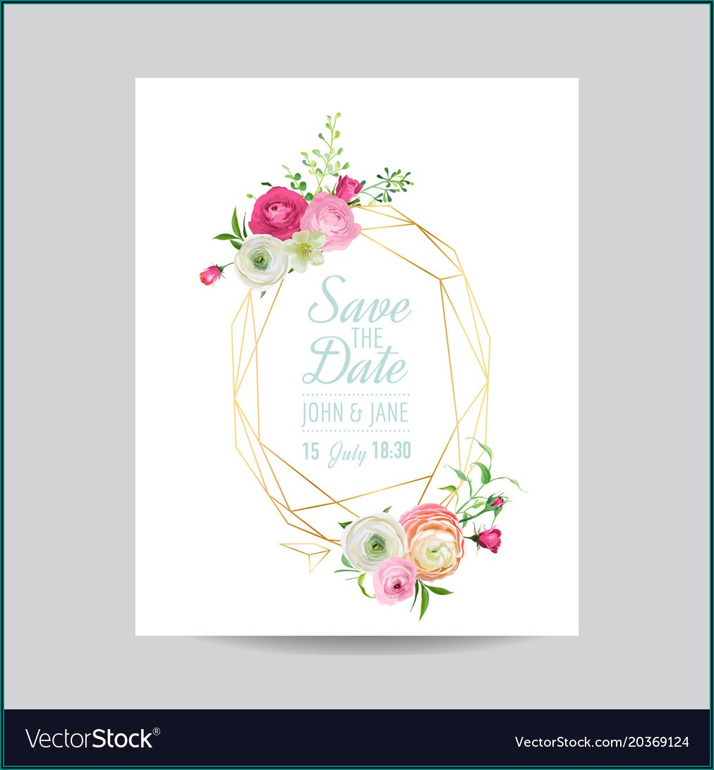Wedding Invitation Floral Template Free