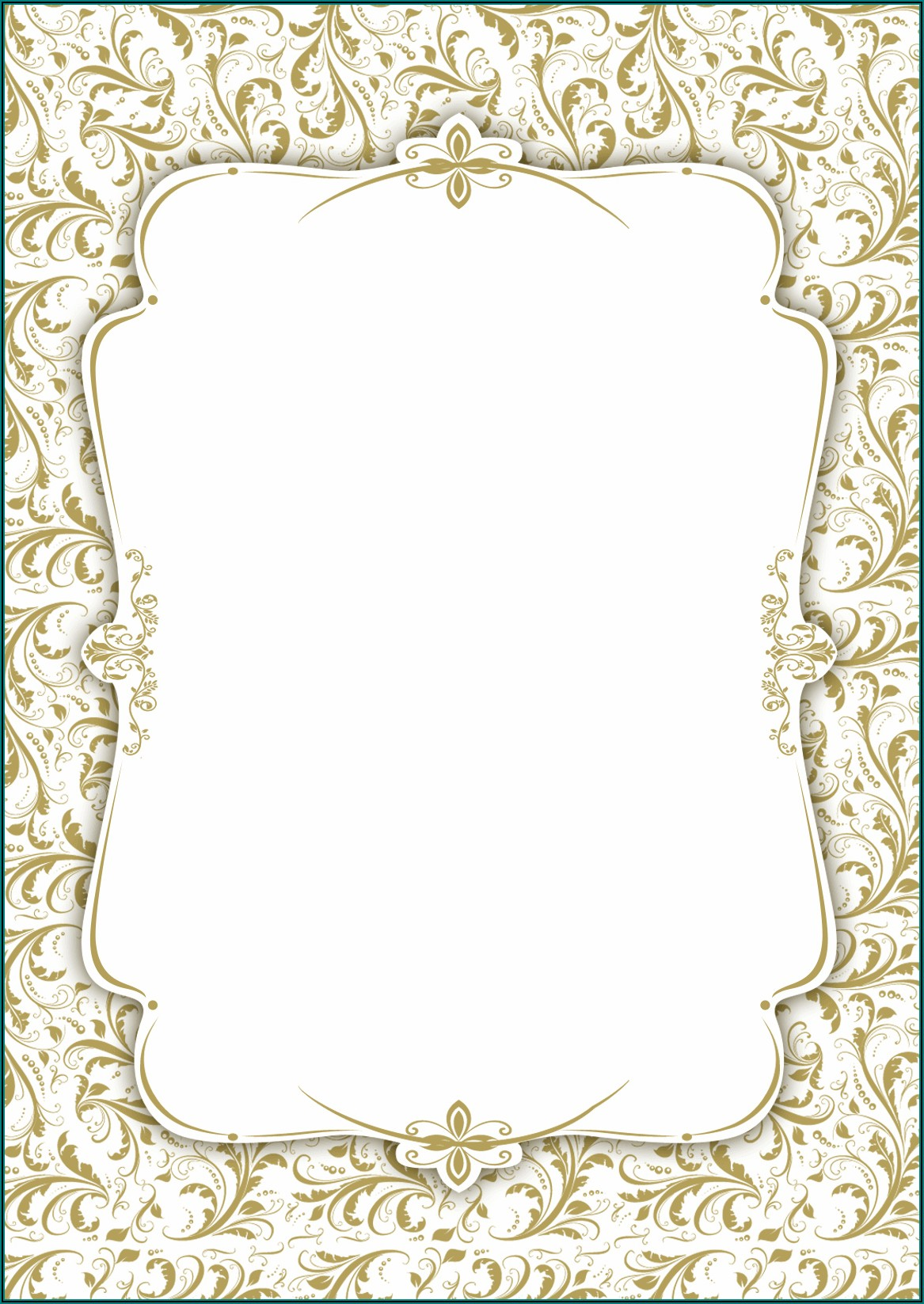 Wedding Invitation Template Blank