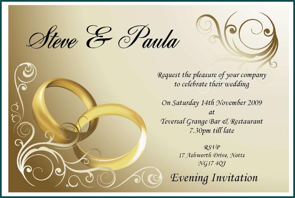 Wedding Invitation Templates Free Online