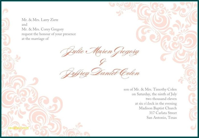 Wedding Invitations Blank Printable