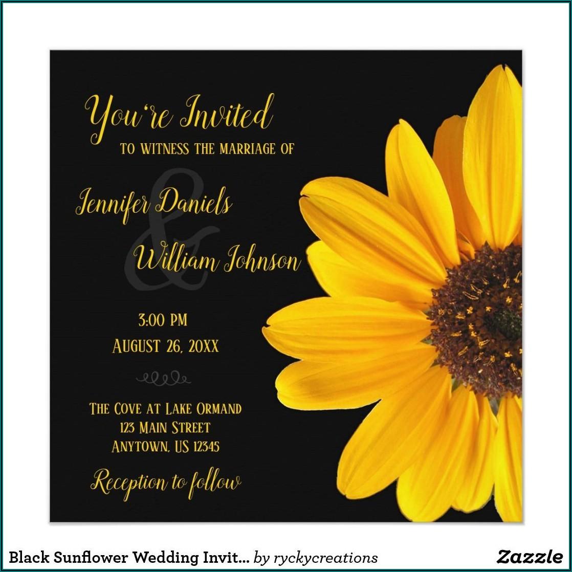Zazzle Sunflower Wedding Invitations