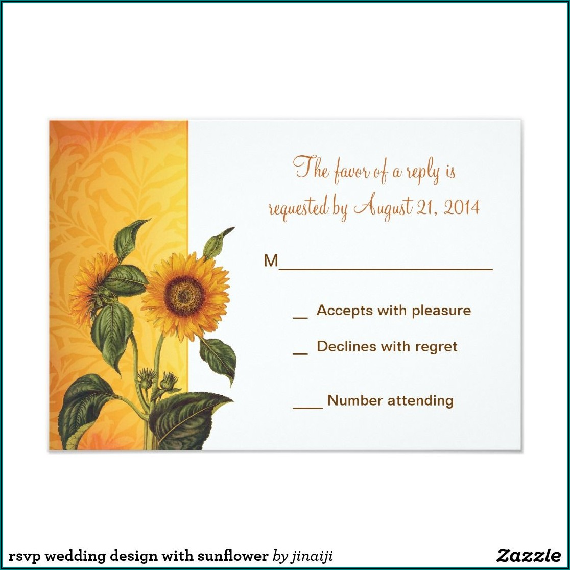 Zazzle Wedding Invitations With Rsvp