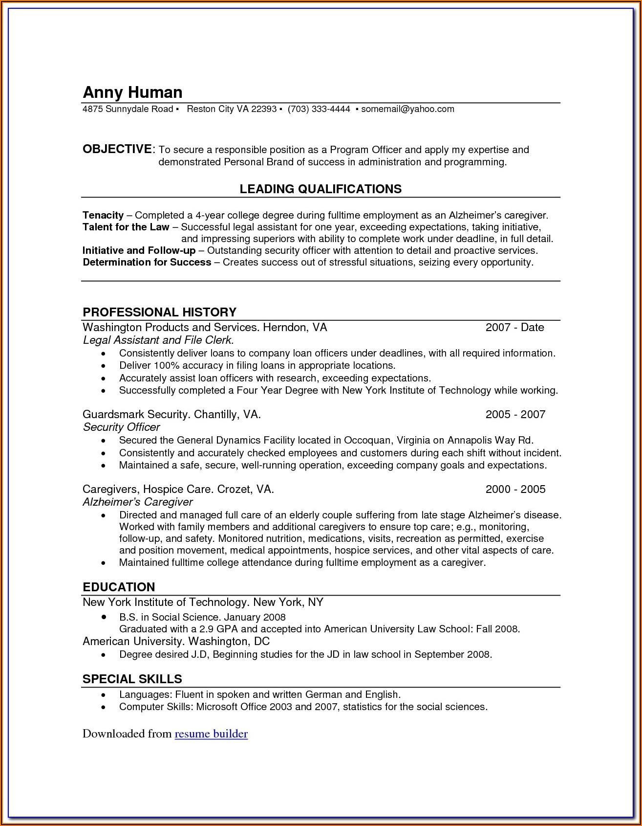 100 Percent Free Resume Maker