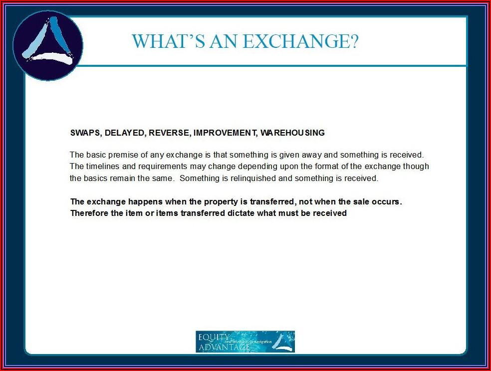 1031 Exchange Timeline 2019