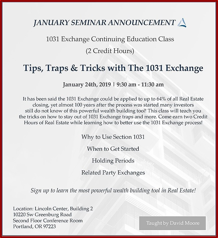 1031 Exchange Timeline Extension Covid 19