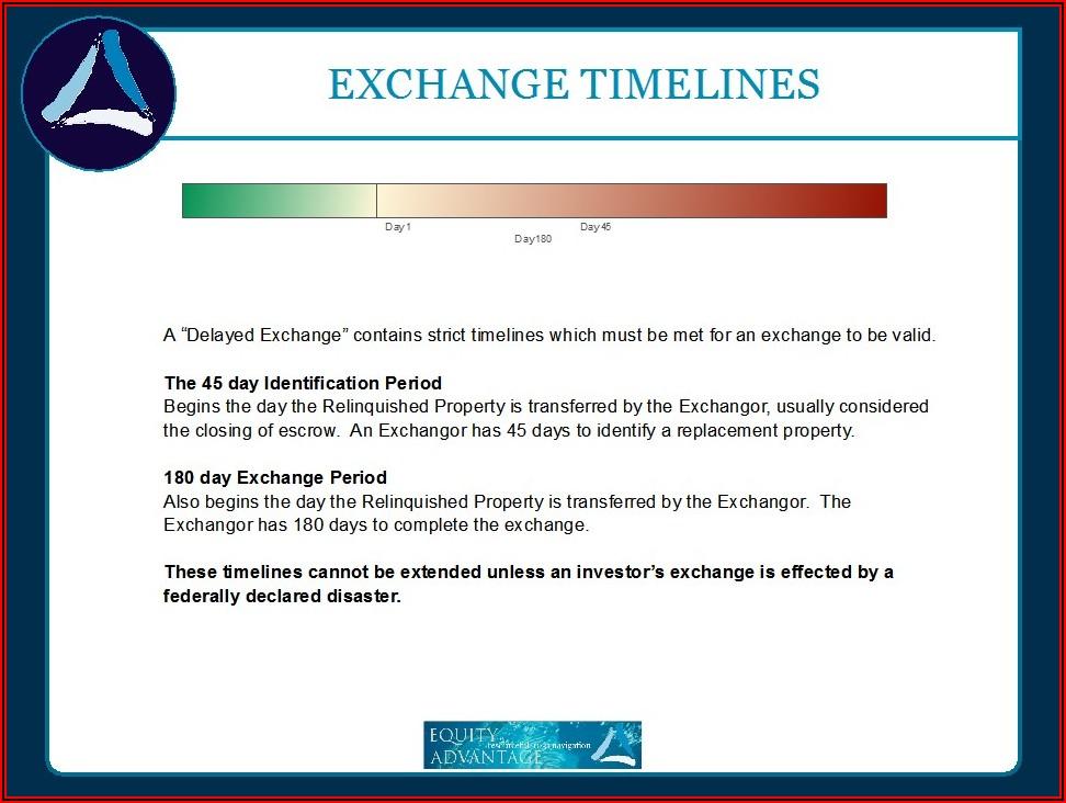 1031 Exchange Timeline Extension
