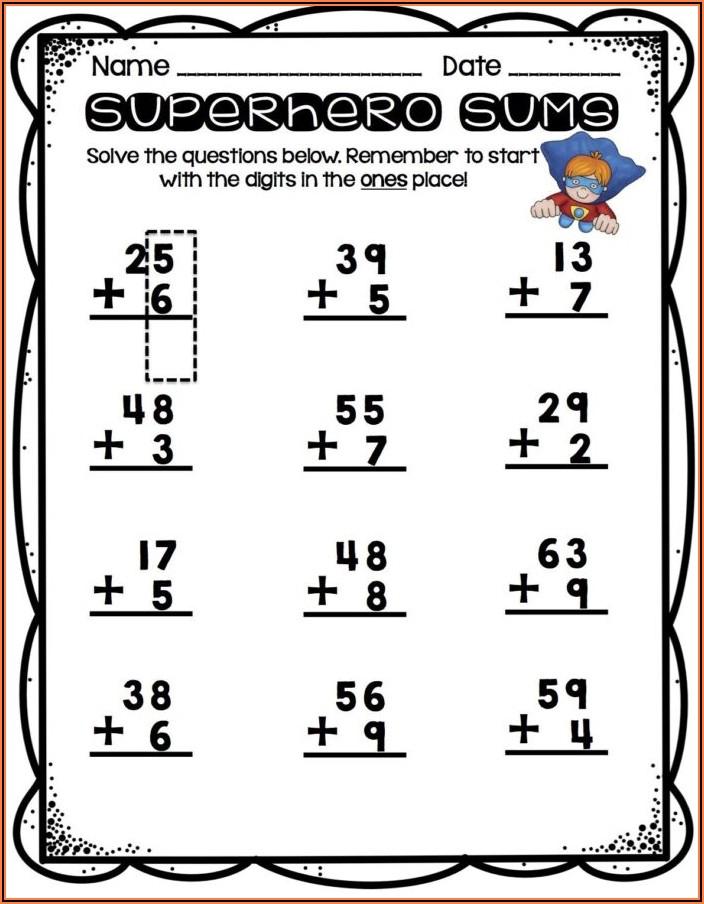 1st Grade Regrouping Worksheets