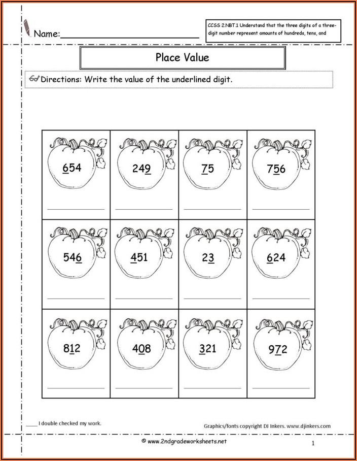 2nd Grade Math Worksheets Halloween