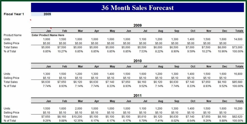 3 Year Sales Plan Template