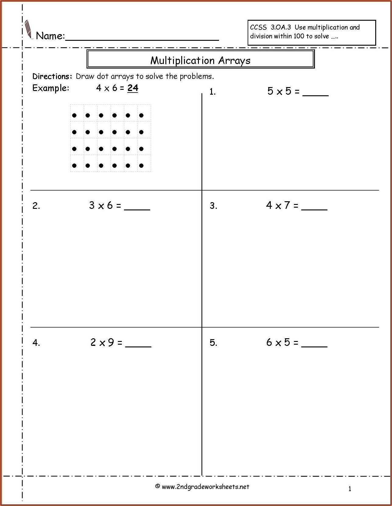 3rd Grade Division Worksheets With Pictures