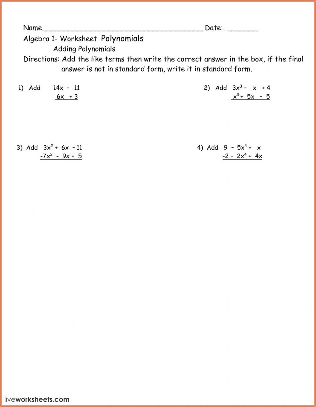 Adding Fractions Unlike Denominators Worksheets 5th Grade