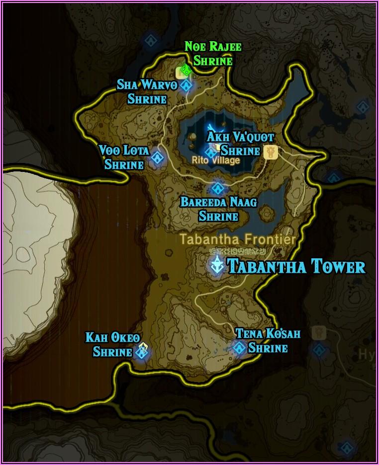 All Shrines Botw Map Hd