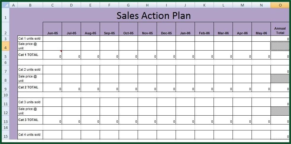 Annual Sales Plan Format