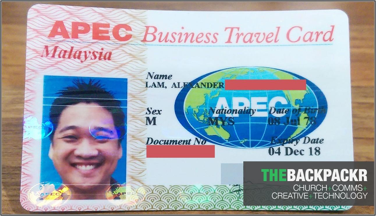Apec Business Travel Card Application Form
