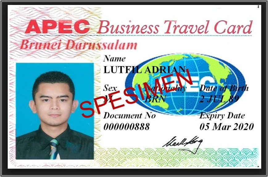Apec Business Travel Card Application