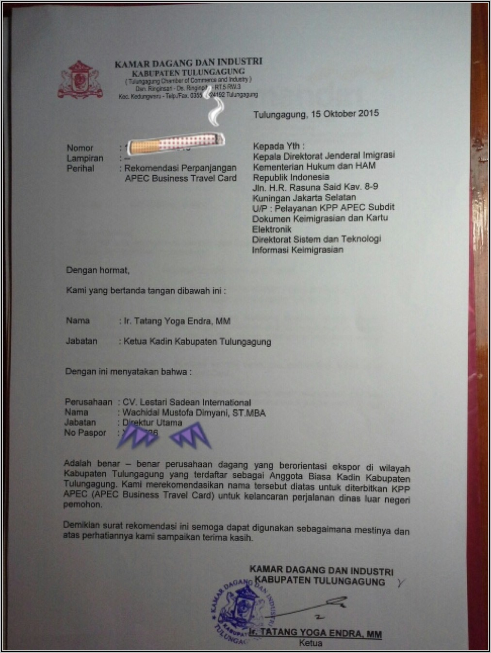 Apec Business Travel Card For Indonesian