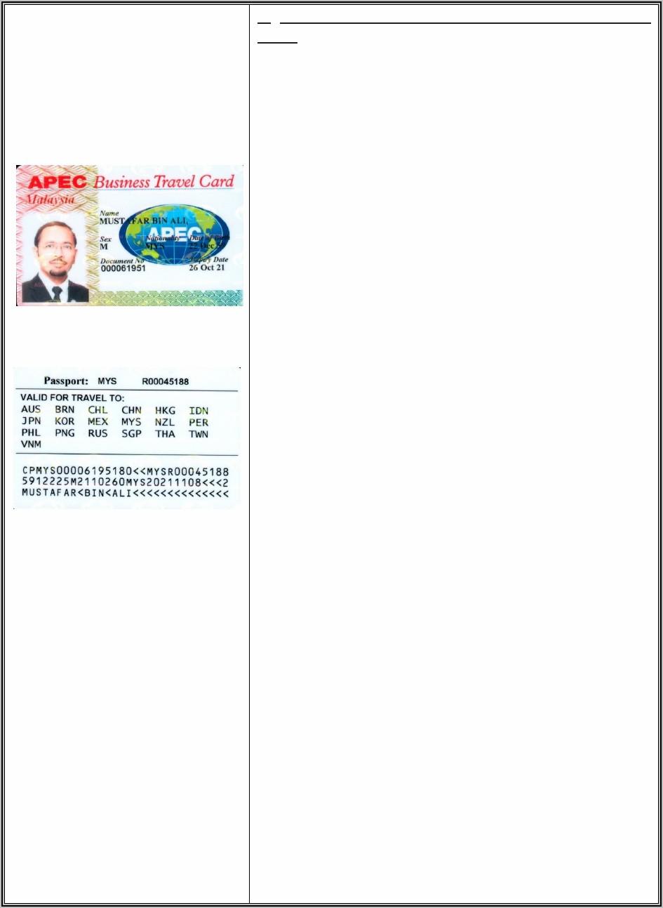 Apec Business Travel Card Malaysia Checklist