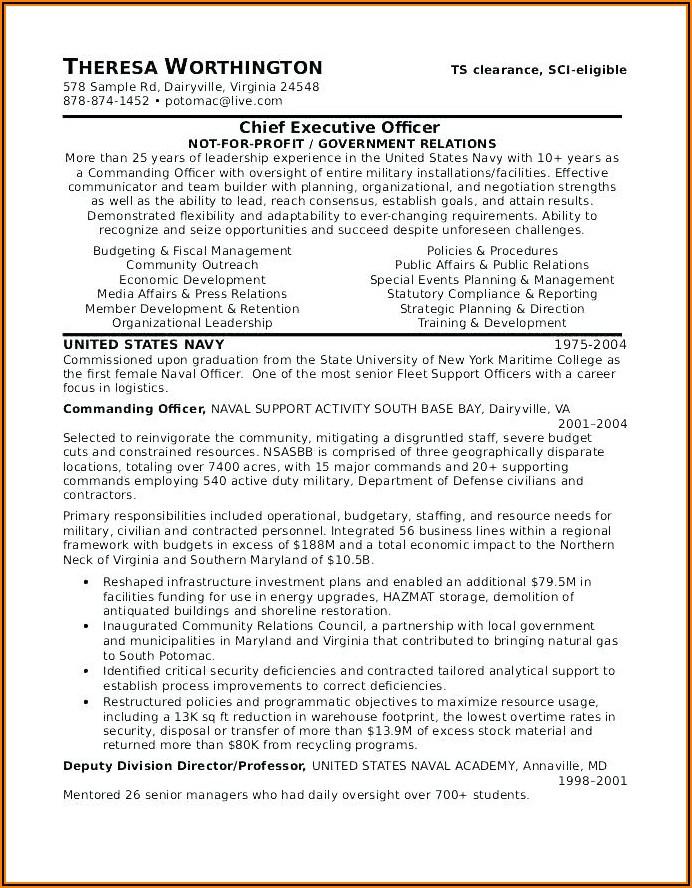 Army Veteran Resume Examples