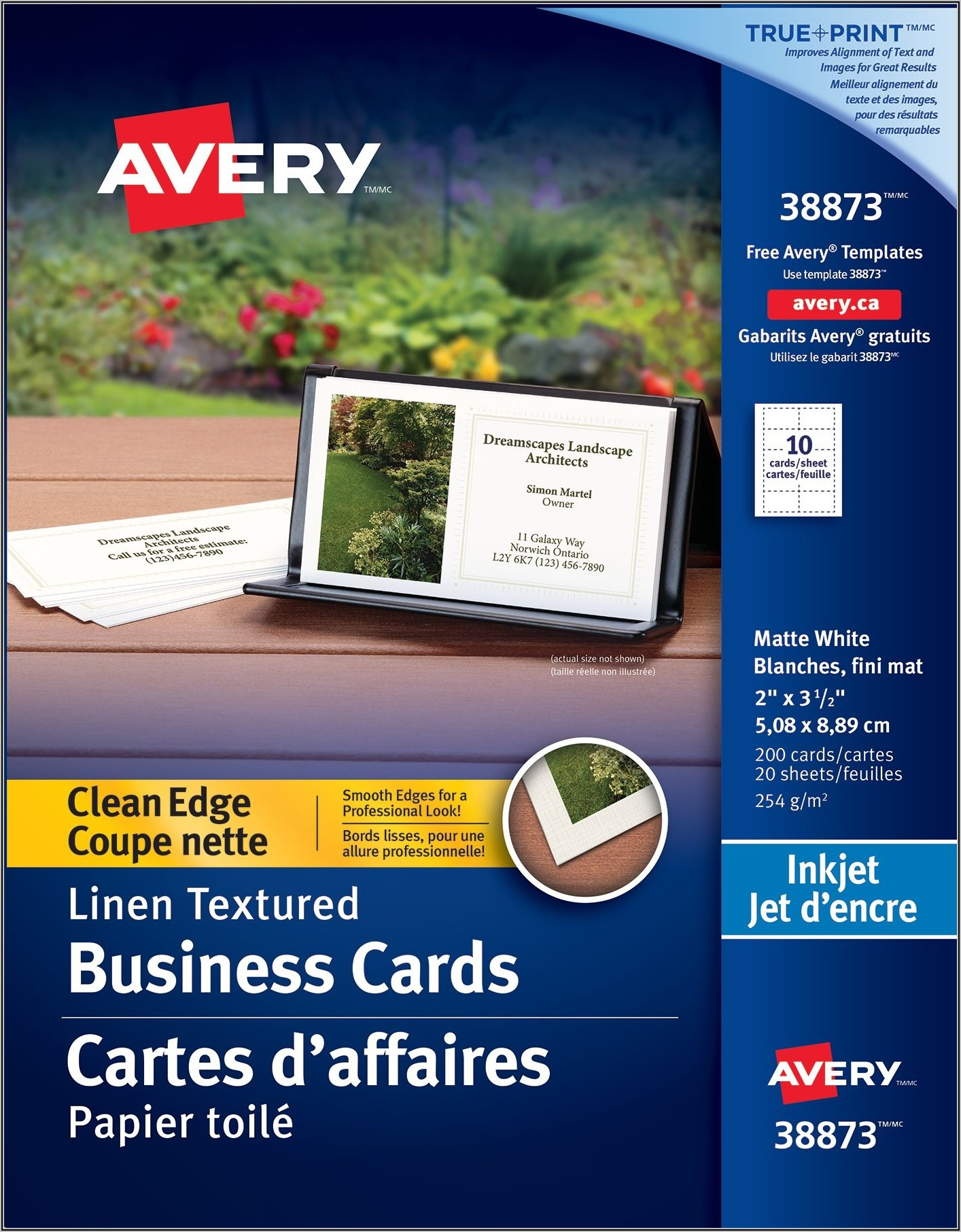 Avery Business Card Template 8871
