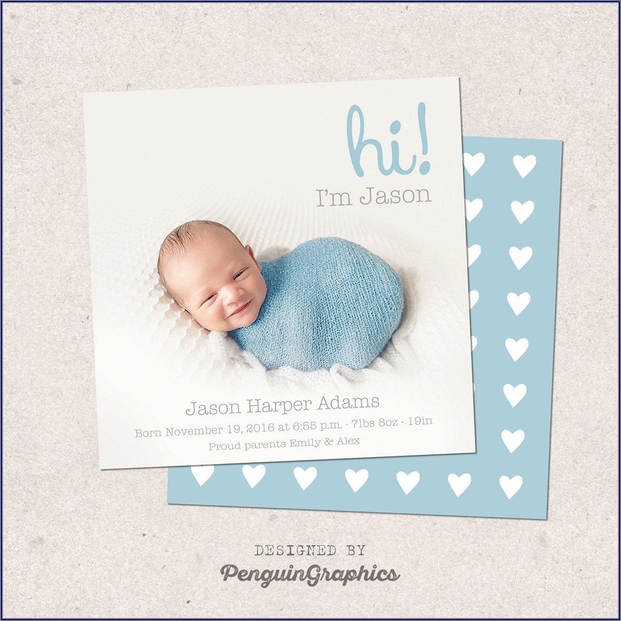 Baby Announcement Cards Etsy