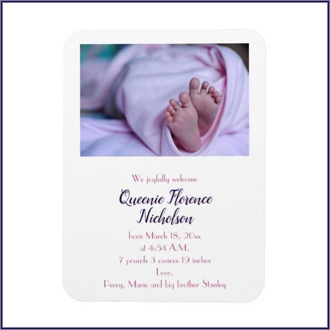 Baby Announcement Fridge Magnets