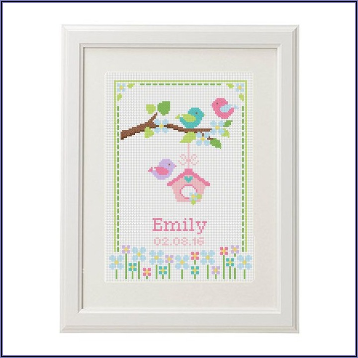 Baby Birth Announcement Cross Stitch