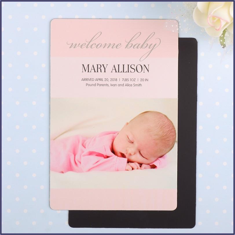Baby Birth Announcement Magnet