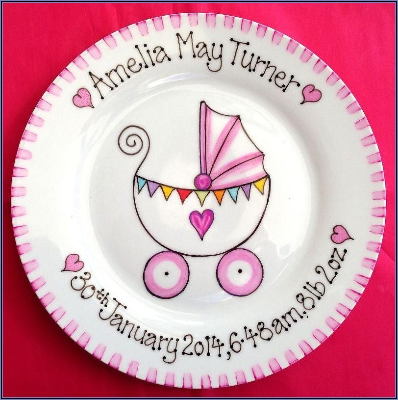 Baby Birth Announcement Plates