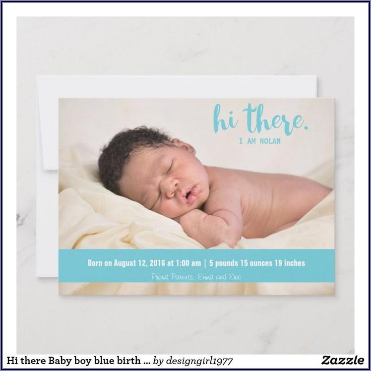 Baby Boy Birth Announcement Wording