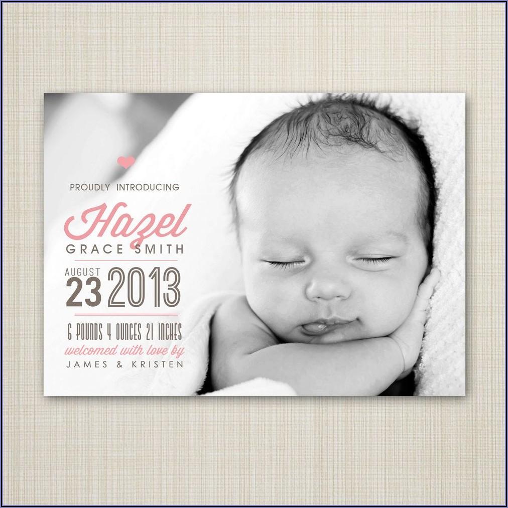Baby Boy Birth Announcements